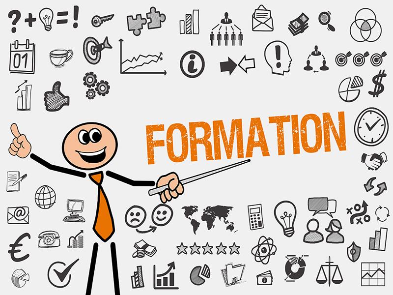 Formation / Mann mit Symbole